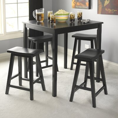 Whitworth 5 Piece Dining Set Finish: Black