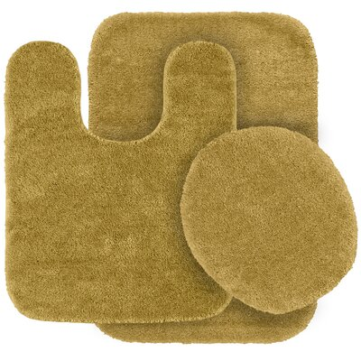 Stanley 3 Piece Rufford Bath Rug Set Color: Linen