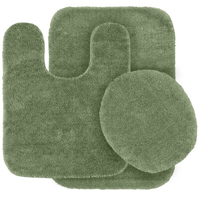 Stanley 3 Piece Rufford Bath Rug Set Color: Deep Fern