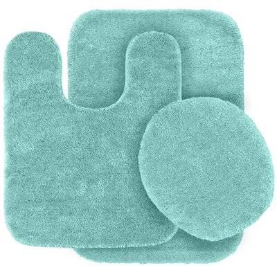 Stanley 3 Piece Rufford Bath Rug Set Color: Sea Foam
