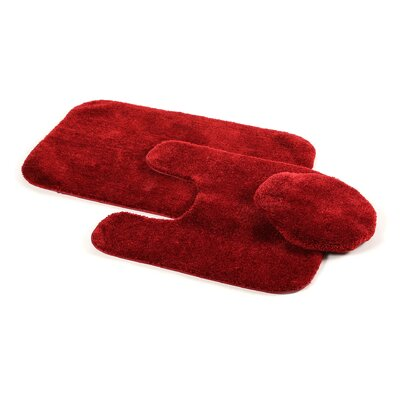 Stanley 3 Piece Rufford Bath Rug Set Color: Chili Pepper Red