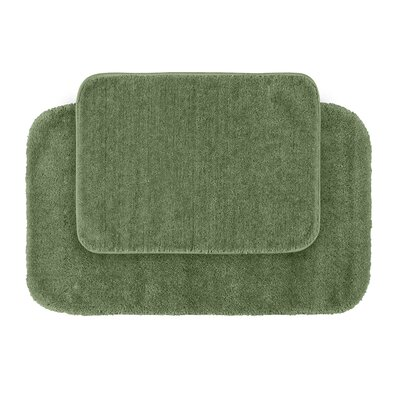 Stanley Red Bath Rug Set Color: Deep Fern