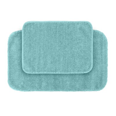 Stanley 2 Piece Red Bath Rug Set Color: Sea Foam