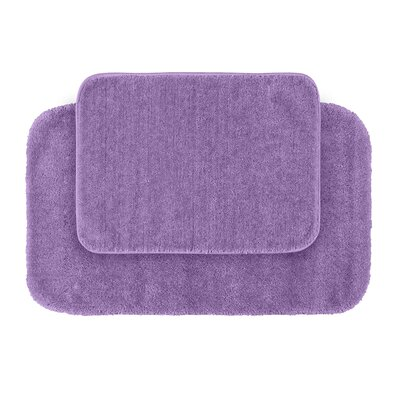 Stanley Red Bath Rug Set Color: Purple