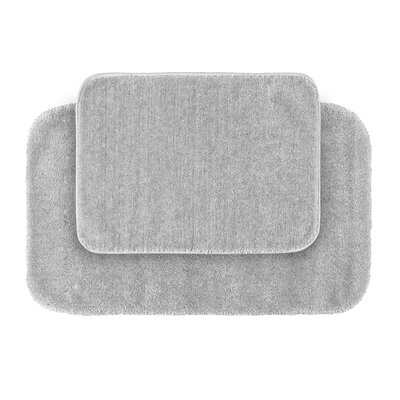 Stanley 2 Piece Red Bath Rug Set Color: Platinum Gray