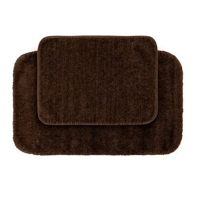 Stanley 2 Piece Red Bath Rug Set Color: Chocolate