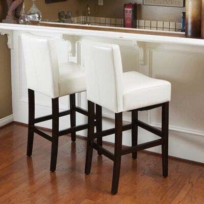 29 inch Bar Stool Upholstery: Ivory