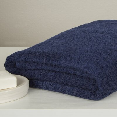 Carbonall Terry Bath Sheet Color: Navy