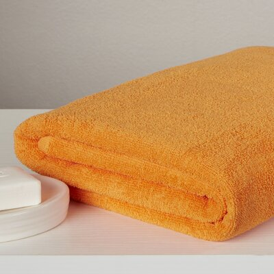 Carbonall Terry Bath Sheet Color: Orange