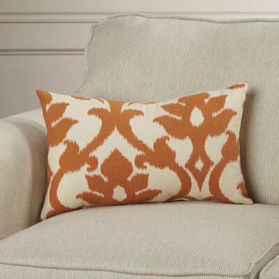 Irma Cotton Lumbar Pillow Color: Tangerine