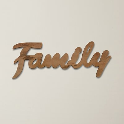 Family Mango Wood Wall Décor