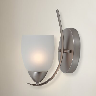 Monrovia 1-Light Wall Sconce Finish: Brushed Nickel