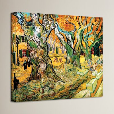 'The Road Menders' by Vincent Van Gogh Painting Print on Canvas