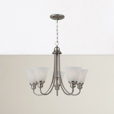 Hartford 5-Light Shaded Chandelier Finish: Brushed Nickel, Bulb Type: 100W Medium
