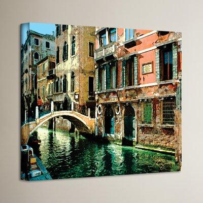 'Venice Canal France' Painting Print on Cavas