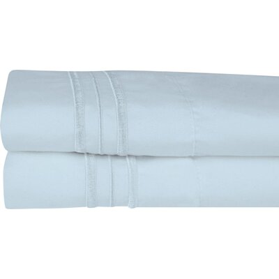 Searsmont 1500 Series Collection Ultra-Soft Embroidered Pillowcase Size: Standard, Color: Light Blue