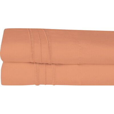 Searsmont 1500 Series Collection Ultra-Soft Embroidered Pillowcase Size: Standard, Color: Mocha