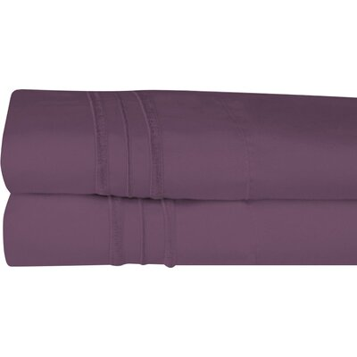 Searsmont 1500 Series Collection Ultra-Soft Embroidered Pillowcase Size: Standard, Color: Purple