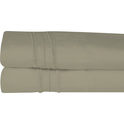 Searsmont 1500 Series Collection Ultra-Soft Embroidered Pillowcase Size: Standard, Color: Sage