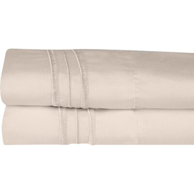 Searsmont 1500 Series Collection Ultra-Soft Embroidered Pillowcase Size: Standard, Color: Beige