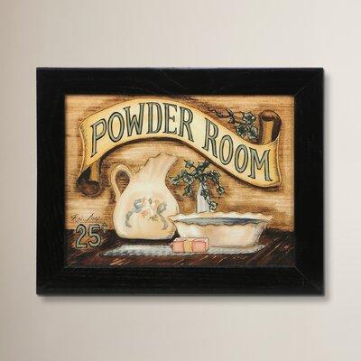 Powder Room Framed Graphic Art