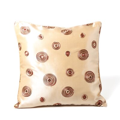 Schneider Silky Circle Design Throw Pillow Color: Beige