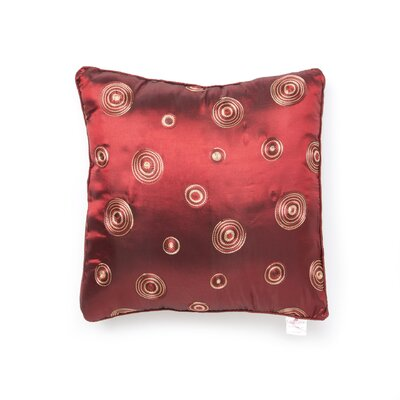 Schneider Silky Circle Design Throw Pillow Color: Burgundy