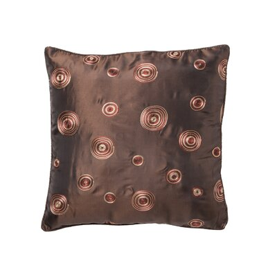 Schneider Silky Circle Design Throw Pillow Color: Brown