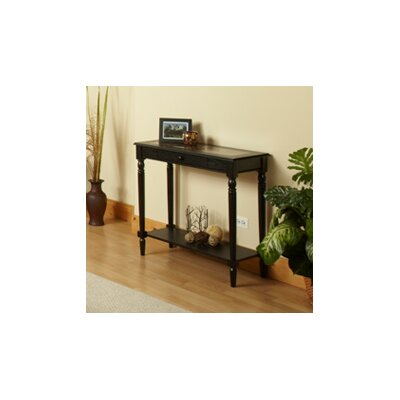 Carlisle Console Table Finish: Black