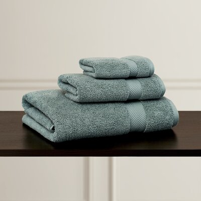 Clayton 3 Piece Zero-Twist Towel Set Color: Jade