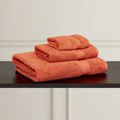 Clayton 3 Piece Zero-Twist Towel Set Color: Brick