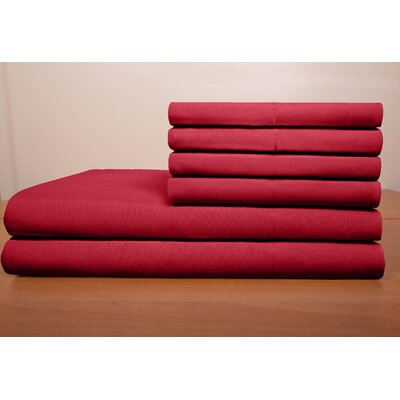 Porter Sheet Set Color: Burgundy, Size: Queen