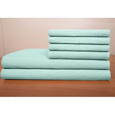 Porter Sheet Set Color: Aqua, Size: Queen