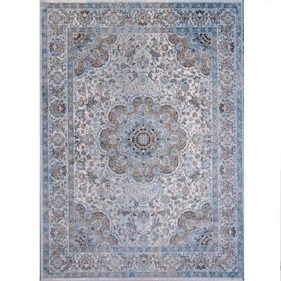 Corydon Blue/Ivory Area Rug Rug Size: 33 x 43