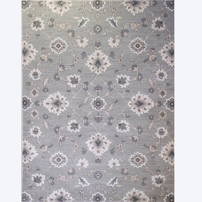 Brookville Light Gray Area Rug Rug Size: 5'2