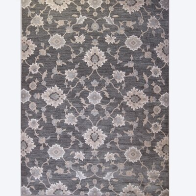Brookville Dark Gray Area Rug Rug Size: 52 x 72