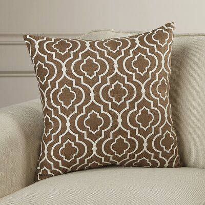Carlyle Cotton Throw Pillow Color: Chocolate, Size: 18
