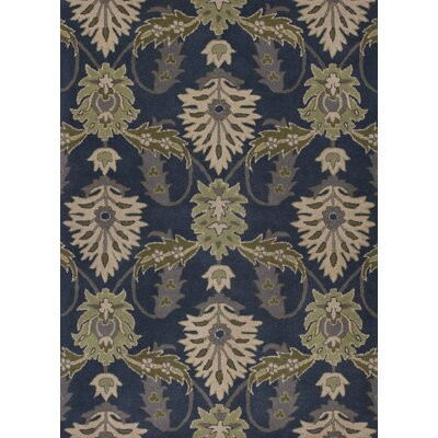 Grabill Hand-Tufted Slate Blue Area Rug
