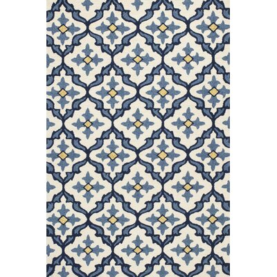 Edinburgh Handmade Ivory/Blue Indoor/Outdoor Area Rug Rug Size: Rectangle 76 x 96