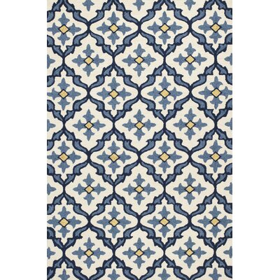 Edinburgh Handmade Ivory/Blue Indoor/Outdoor Area Rug Rug Size: 33 x 53