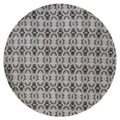 Edinburgh Handmade Charcoal Indoor/Outdoor Area Rug Rug Size: Round 76