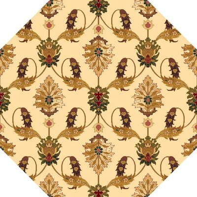 Greenfield Ivory Area Rug Rug Size: Octagon 77