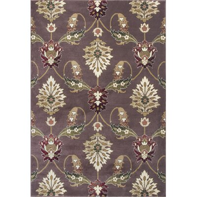 Greenfield Plum Area Rug Rug Size: Rectangle 53 x 77