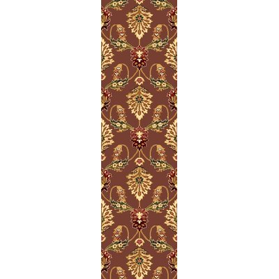 Greenfield Plum Area Rug Rug Size: Runner 2'2
