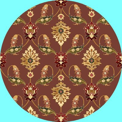 Greenfield Plum Area Rug Rug Size: Round 77