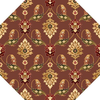 Greenfield Plum Area Rug Rug Size: Octagon 77