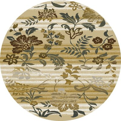 Griffith Sand Area Rug Rug Size: Round 77