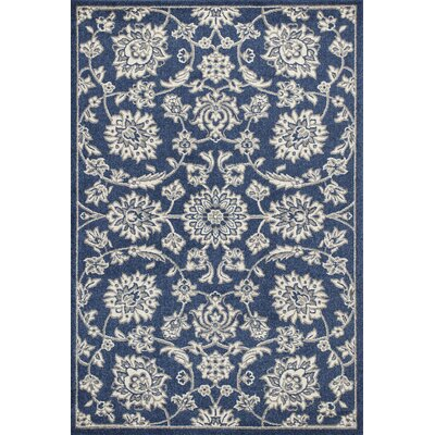 Arcadia Denim Indoor/Outdoor Area Rug Rug Size: 53 x 77