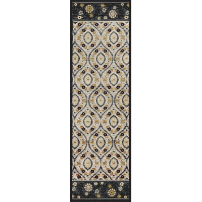 Morgantown Ivory Blue Area Rug Rug Size: Runner 22 x 611