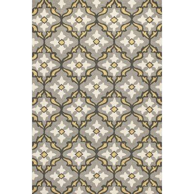 Edinburgh Handmade Gray/Gold Indoor/Outdoor Area Rug Rug Size: 33 x 53